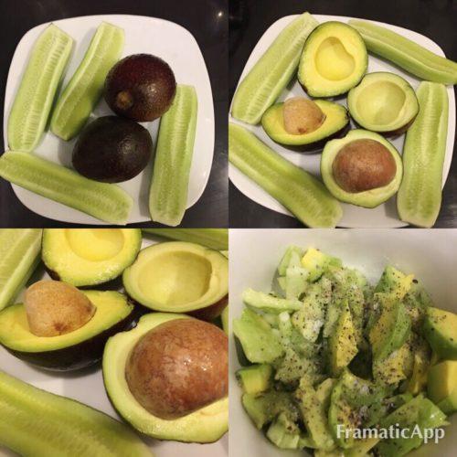 сыроедный салат с авокадо