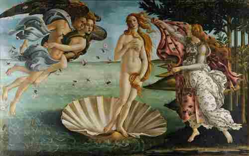 Венера в Истории Ботичелли